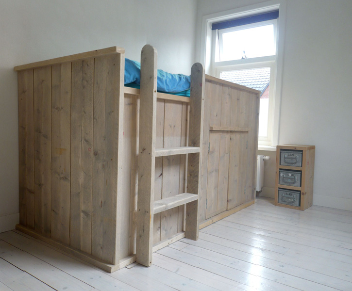 Slaapkamer Met Steigerhout : Slaapkamer kast steigerhout eigentijdse ...